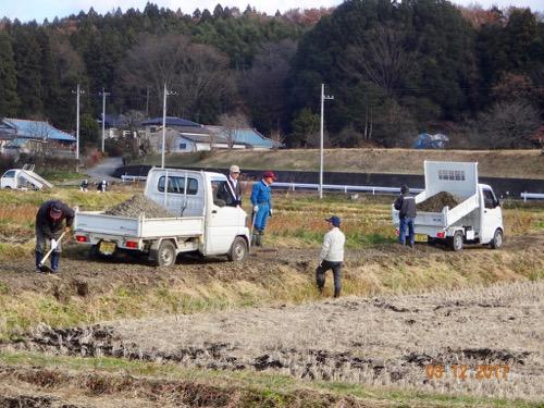 農道砂利敷き
